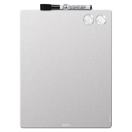 """Quartet® Magnetic Dry-Erase Frameless Whiteboard, Melamine, 8 1/2"""" x 11"""", Silver"""