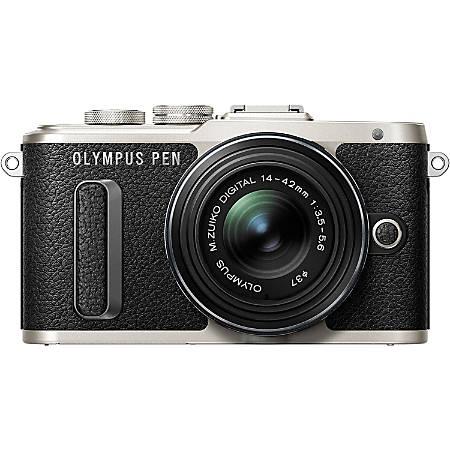 Olympus PEN E-PL8 16.1 Megapixel Mirrorless Camera with Lens - 14 mm - 42 mm - Black