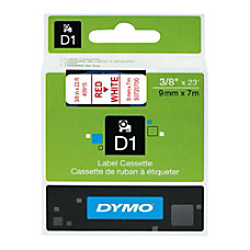 DYMO D1 1761281 Red On White