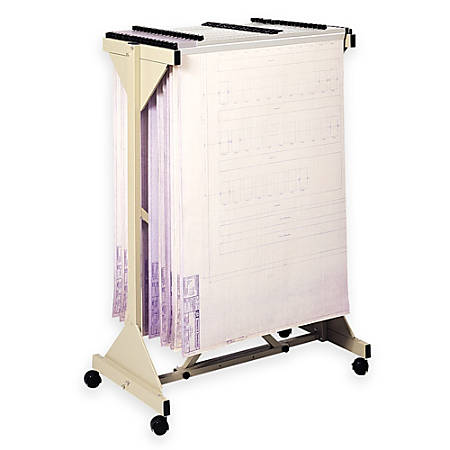 Safco® Mobile Planning Center Hanging Flat File Stand, Tropic Sand