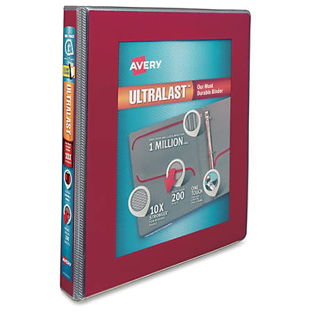 avery ultralast one touch slant d ring binder 1 binder capacity