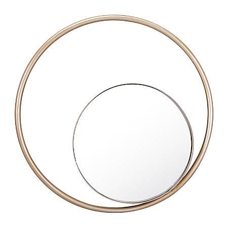 Zuo Modern Round Solar Mirror, Champagne