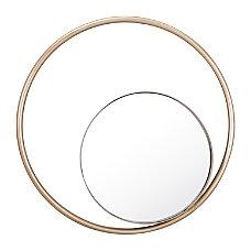 Zuo Modern Round Solar Mirror Champagne