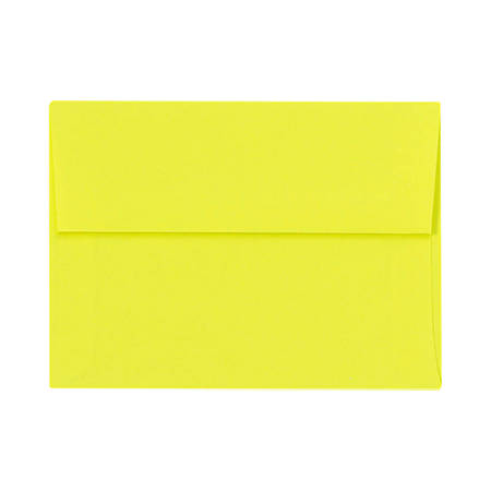 "LUX Invitation Envelopes With Peel & Press Closure, A7, 5 1/4"" x 7 1/4"", Citrus, Pack Of 50"