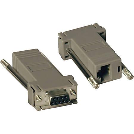 Tripp Lite Null Modem Serial RS232 Modular Adapter Kit 2x DB9F to RJ45F