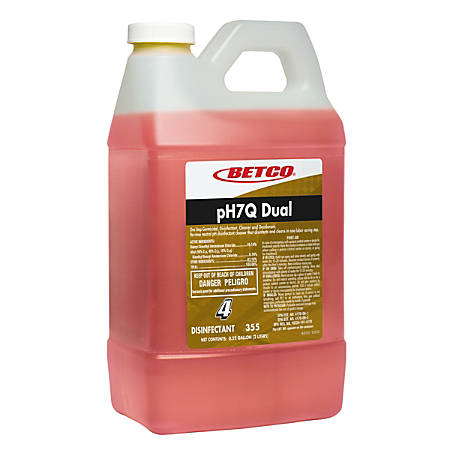 Betco® PH7Q Dual Neutral Disinfectant Cleaner, Pleasant Lemon Scent, 72 Oz, Case Of 4