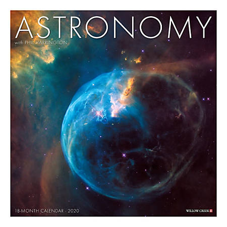 """Willow Creek Press 18-Month Wall Calendar, 12"""" x 12"""", Astronomy, July 2019 to December 2020"""