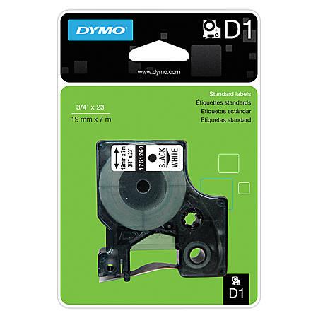 """DYMO® D1 1761260 Black-On-White Tape, 0.75"""" x 23'"""