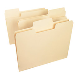Smead® SuperTab® File Folders, Letter Size, 1/3 Cut, Manila, Pack Of 24