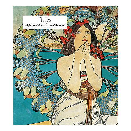 Retrospect  Alphonse Mucha Monthly Desk Calendar, January To December 2020, YCD 017-20