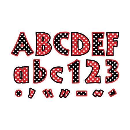 "Barker Creek® Letter Pop-Outs, 4"", Dots, Set Of 255"