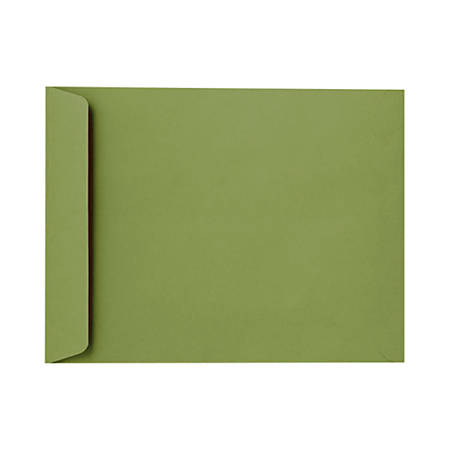 """LUX Open-End Envelopes With Moisture Closure, 10"""" x 13"""", Avocado Green, Pack Of 50"""