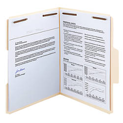 Smead SuperTab Manila Fastener Folders Letter
