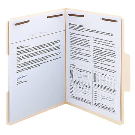 Smead® SuperTab® Manila Fastener Folders, Letter Size, Box Of 50
