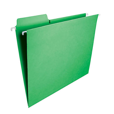 Smead® FasTab® Hanging File Folder, Letter Size, Green, Box Of 20