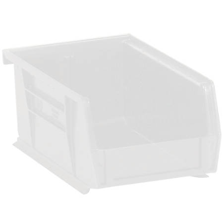 """Office Depot® Brand Plastic Stack And Hang Bin Boxes, 7 3/8"""" x 4 1/8"""" x 3"""", Clear, Pack Of 24"""