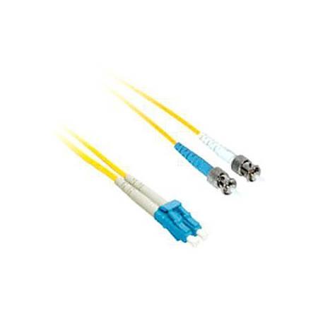 C2G-9m LC-ST 9/125 OS1 Duplex Singlemode Fiber Optic Cable (Plenum-Rated) - Yellow - 9m LC-ST 9/125 Duplex Single Mode OS2 Fiber Cable - Plenum CMP-Rated - Yellow - 30ft