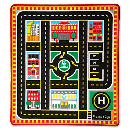 Melissa & Doug Round The City Rescue Rug, Pre-K To Grade 2