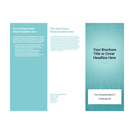 Customizable Trifold Brochure, Teal Background