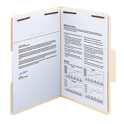 Smead SuperTab Manila Fastener Folder Legal