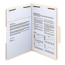 Smead SuperTab Manila Fastener Folder Legal