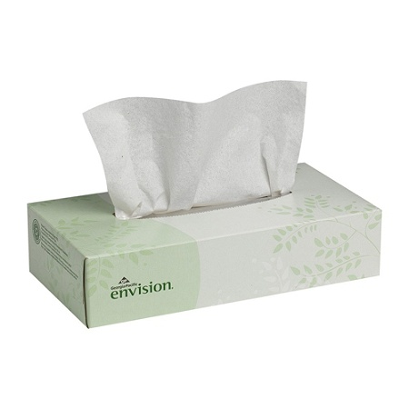 Envision 2 Ply Tissues 100percent Recycled White Box Of 100 By Office Depot Officemax