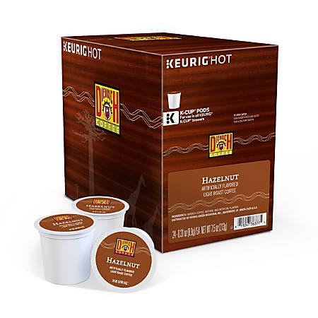 Diedrich Coffee Light Roast Coffee Single-Serve K-Cup®, Hazelnut, 0.31 Oz, Carton Of 24