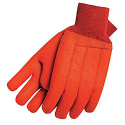 TAN FOAM LINED PVC GLOVES SAFETY