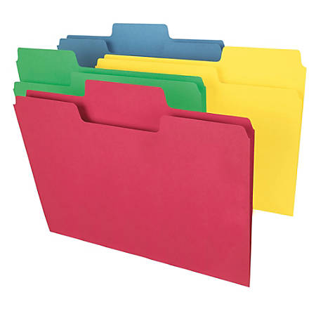 Smead® SuperTab® File Folders, Legal Size, Assorted Colors, Box Of 100