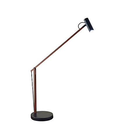 "Adesso® Crane Desk Lamp, 32 1/2""H, Black Shade/Black Base"