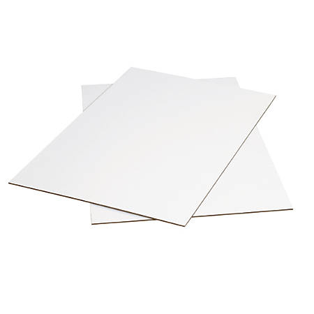 """Office Depot Brand 100% Recycled Material Kraft Corrugated Sheets, 24"""" x 36"""", White, Pack Of 20"""