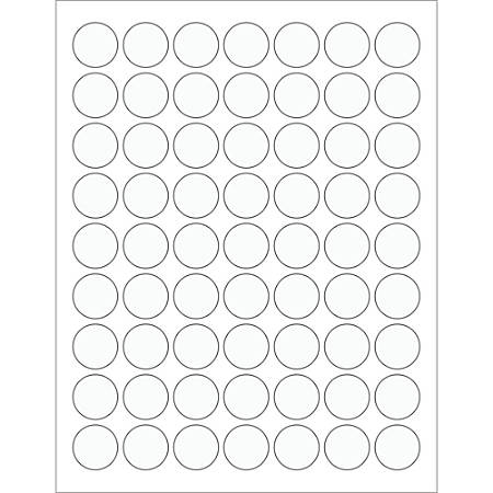 "Office Depot® Brand Circle Laser Labels, LL230CL, 1"", Clear, 63 Labels Per Sheet, Case Of 100 Sheets"