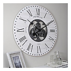 FirsTime Co Shiplap Gears Wall Clock