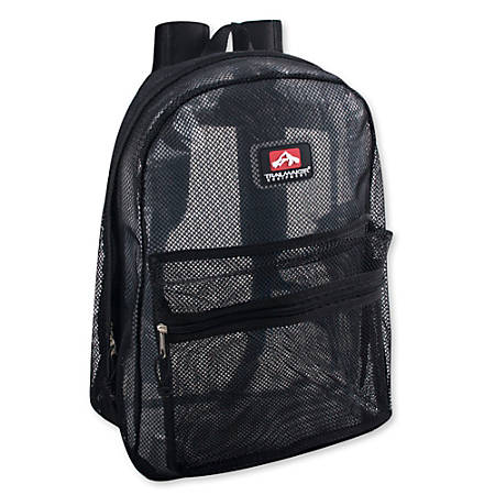 Trailmaker Mesh Backpacks, Black, Set Of 24 Backpacks