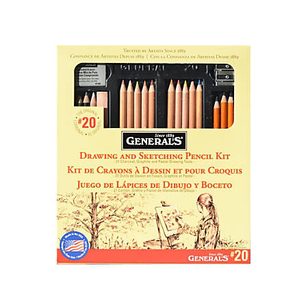 General's Drawing Pencil Kit, #20, Assorted Colors