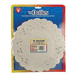 Hygloss Round Doilies 8 White 100