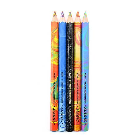 Koh-I-Noor Magic FX Pencils, Assorted Colors, 5 Pencils Per Set, Pack Of 2 Sets