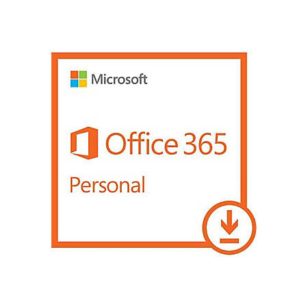 Microsoft Office 365 Personal 32/64-bit - Subscription License - 1 PC/Mac, 1 Phone, 1 Tablet - 1 Year - Non-commercial - Download - Handheld, Mac, PC