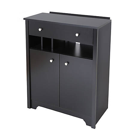 South Shore Vito Charging Station Cabinet, Pure Black