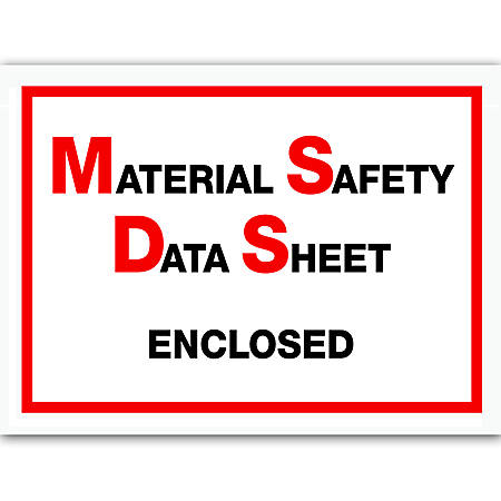 """Office Depot® Brand """"MSDS Enclosed"""" Packing List Envelopes,Full Face, 6 1/2"""" x 5"""", Pack Of 1,000"""