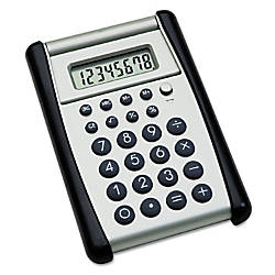 Flip Up Calculator BlackSilver AbilityOne 7420