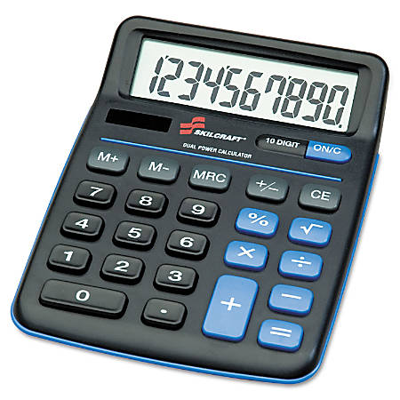 Desktop Calculator, 10-Digit (AbilityOne 7420-01-484-4580)
