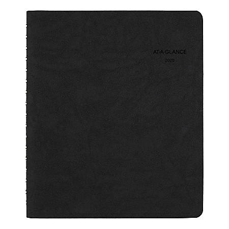 "AT-A-GLANCE® The Action Planner Daily Appointment Book/Planner, 6-1/2"" x 8-3/4"", Black, January To December 2020, 70EP0305"