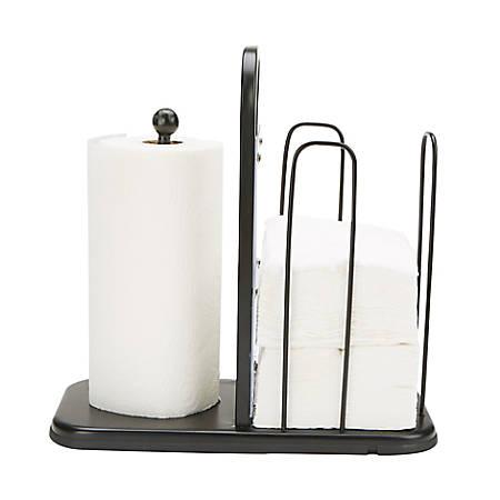 "Mind Reader Steel Napkin & Paper Towel Holder, 12""H x 7""W x 7-1/2""D"