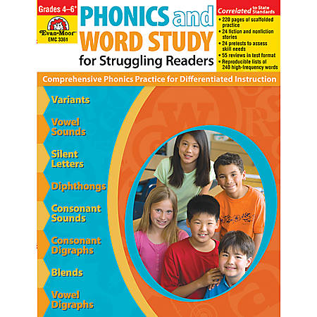 Evan-Moor® Phonics And Word Study For Struggling Readers