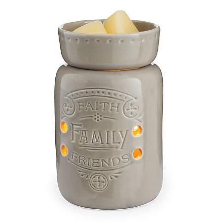"""Candle Warmers Etc Midsize Illumination Fragrance Warmer, 6-7/16"""" x 4-5/8"""", Faith Family Friends"""