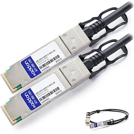 AddOn Brocade 40G-QSFP-QSFP-C-0501 Compatible TAA Compliant 40GBase-CU QSFP+ to QSFP+ Direct Attach Cable (Active Twinax, 5m) - 100% application tested and guaranteed compatible