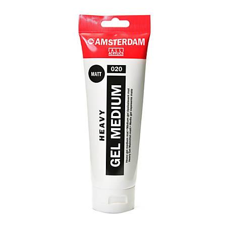 Amsterdam Acrylic Mediums, Heavy Gel, Matte, 250 mL, Pack Of 2