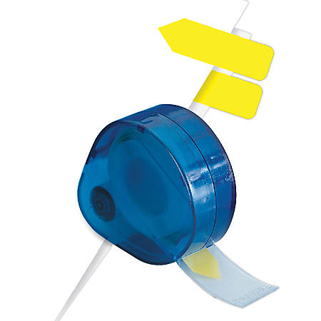 Redi-Tag® Nonprinted Indicator Flags In Dispenser, Yellow