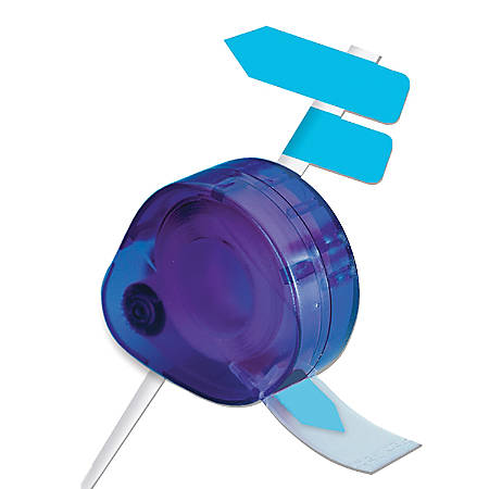 Redi-Tag® Nonprinted Indicator Flags In Dispenser, Blue